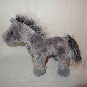 "Horse Gray Arabian Webkinz No Code Ganz Plush 9"""